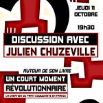"""Présentation du livre """"Un court moment révolutionnaire"""" Jeudi 11 Octobre"""
